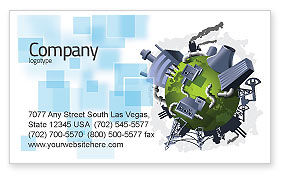 Pollution Control Business Card Template
