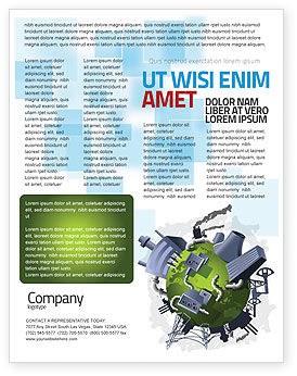 Utilities/Industrial: Templat Flyer Kontrol Polusi #07574