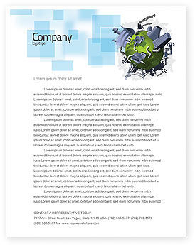 Pollution Control Letterhead Template, 07574, Utilities/Industrial — PoweredTemplate.com