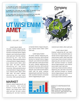 Utilities/Industrial: Pollution Control Newsletter Template #07574