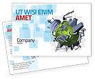 Utilities/Industrial: Pollution Control Postcard Template #07574
