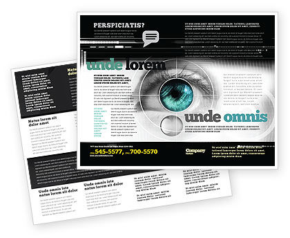 Selection of Contact Lenses Brochure Template, 07585, Technology, Science & Computers — PoweredTemplate.com