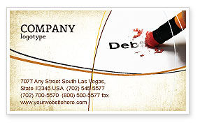 Debt Liquidation Business Card Template