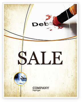 Debt Liquidation Sale Poster Template, 07587, Financial/Accounting — PoweredTemplate.com