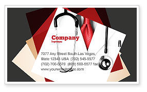 Medical: Rigorous Doctor Business Card Template #07594