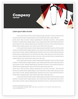 Medical: Rigorous Doctor Letterhead Template #07594