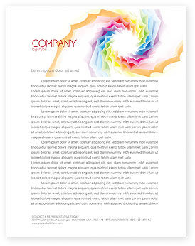 Design Materials Letterhead Template, 07596, Abstract/Textures — PoweredTemplate.com
