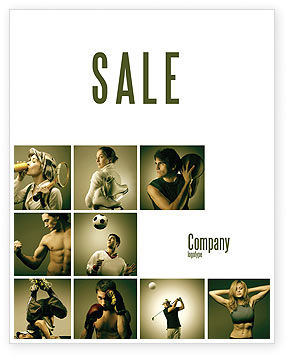 People: Sport Activities Sale Poster Template #07597