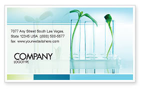 Technology, Science & Computers: Green Sprigs Business Card Template #07598