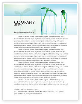 Technology, Science & Computers: Green Sprigs Letterhead Template #07598