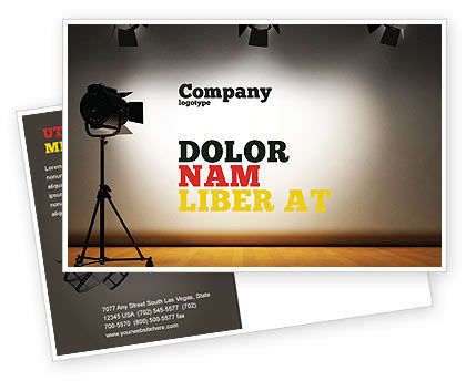 Photo Studio Postcard Template, 07606, Careers/Industry — PoweredTemplate.com