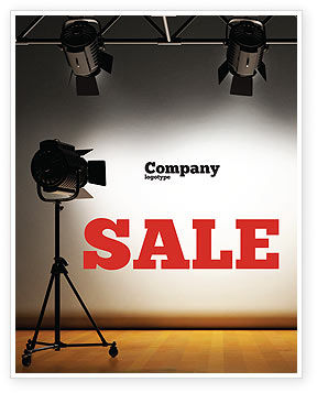 Photo Studio Sale Poster Template, 07606, Careers/Industry — PoweredTemplate.com