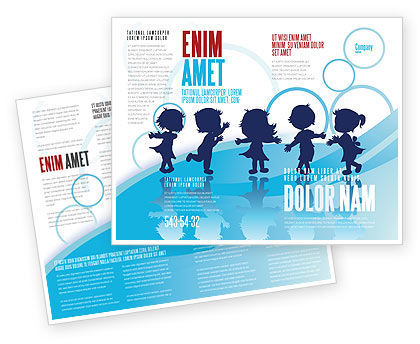 Education & Training: Modello Brochure - Bambini piccoli #07607