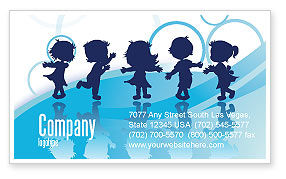 Education & Training: Little Children Business Card Template #07607