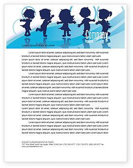 Education & Training: Little Children Letterhead Template #07607
