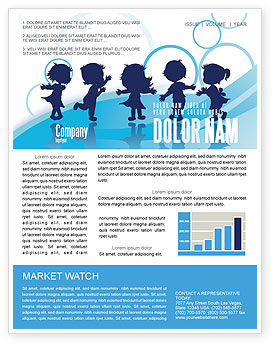 Education & Training: Little Children Newsletter Template #07607
