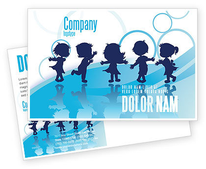 Education & Training: Little Children Postcard Template #07607