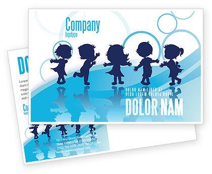 Little Children Postcard Template, 07607, Education & Training — PoweredTemplate.com
