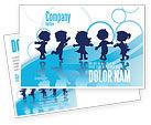 Education & Training: Little Children Postcard Template #07607
