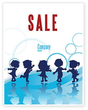 Education & Training: Little Children Sale Poster Template #07607