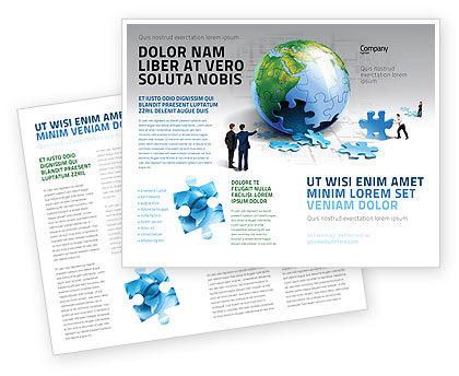 Global: Finalization Of Jigsaw World Brochure Template #07611