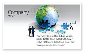 Finalization Of Jigsaw World Business Card Template, 07611, Global — PoweredTemplate.com