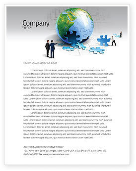 Finalization Of Jigsaw World Letterhead Template, 07611, Global — PoweredTemplate.com