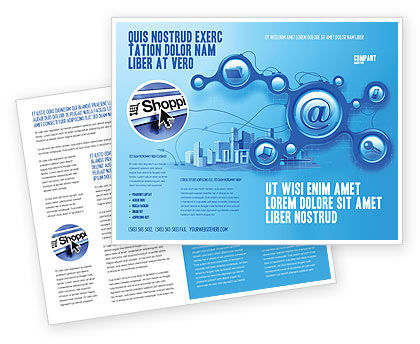 Technology, Science & Computers: E-Communication Brochure Template #07612