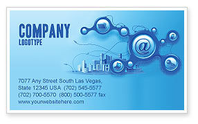 Technology, Science & Computers: E-Communication Business Card Template #07612