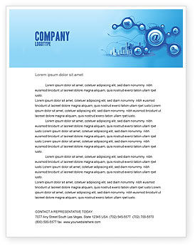 Technology, Science & Computers: E-Communication Letterhead Template #07612