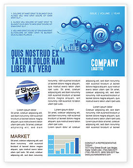 Technology, Science & Computers: E-Communication Newsletter Template #07612