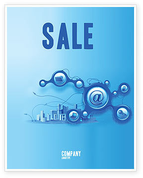 E-Communication Sale Poster Template, 07612, Technology, Science & Computers — PoweredTemplate.com
