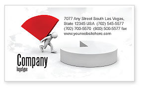 Pie Chart Sector Carried By Man Business Card Template, 07619, Consulting — PoweredTemplate.com