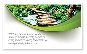 Wooden Path Business Card Template, 07621, Business Concepts — PoweredTemplate.com