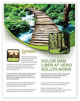 Wooden Path Flyer Template