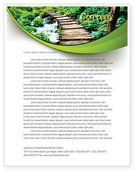 Business Concepts: Wooden Path Letterhead Template #07621
