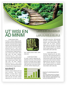 Wooden Path Newsletter Template, 07621, Business Concepts — PoweredTemplate.com