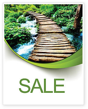Wooden Path Sale Poster Template, 07621, Business Concepts — PoweredTemplate.com