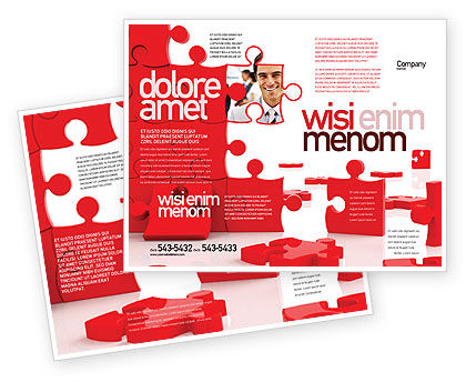 Pieces Falling Apart Brochure Template