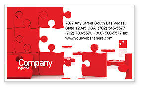 Pieces Falling Apart Business Card Template, 07624, Consulting — PoweredTemplate.com