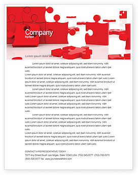Pieces Falling Apart Letterhead Template, 07624, Consulting — PoweredTemplate.com