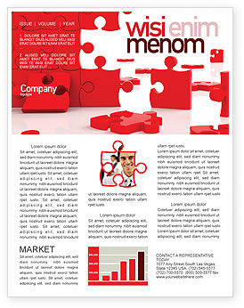 Consulting: Pieces Falling Apart Newsletter Template #07624