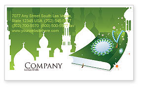 Religious/Spiritual: Coran Business Card Template #07628