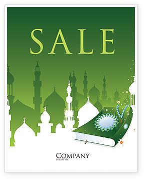 Religious/Spiritual: Coran Sale Poster Template #07628