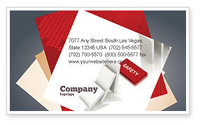 Safety Domino Theme Business Card Template, 07633, Business Concepts — PoweredTemplate.com