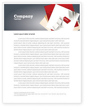 Business Concepts: Safety Domino Theme Letterhead Template #07633