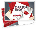 Business Concepts: Safety Domino Theme Postcard Template #07633