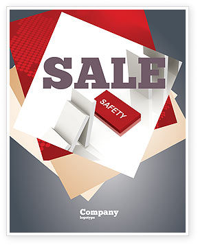 Safety Domino Theme Sale Poster Template, 07633, Business Concepts — PoweredTemplate.com