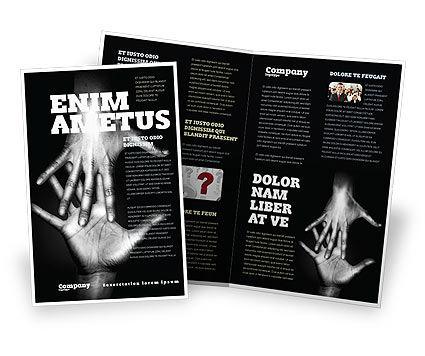 Religious/Spiritual: Modelo de Brochura - alcançando as mãos #07634
