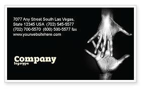 Reaching Hands Business Card Template, 07634, Religious/Spiritual — PoweredTemplate.com